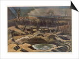 Field at Passchendaele, British Artists at the Front, Continuation of the Western Front, Nash, 1918 Poster by Paul Nash