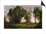 The Dance of the Nymphs Print by Jean-Baptiste-Camille Corot