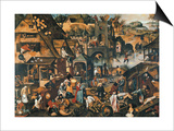 Flemish Proverbs Print by Pieter Brueghel the Younger