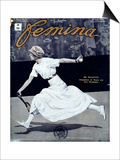 "Miss Broquedis, Olympic Tennis Champion, Front Cover of ""Femina,"" Issue 278, 15th August 1912 Prints"