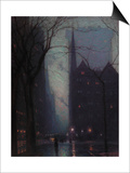 Fifth Avenue at Twilight, c.1910 Posters by Lowell Birge Harrison