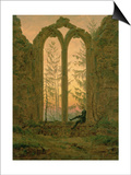Ruins of the Oybin Monastery 1835-40 Posters by Caspar David Friedrich