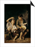 Two Children Eating a Melon and Grapes, 1645-46 Posters by Bartolome Esteban Murillo