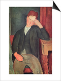 The Young Apprentice, circa 1917 Prints by Amedeo Modigliani