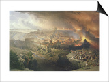 The Destruction of Jerusalem in 70 AD Posters by David Roberts