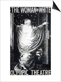 Poster for the Stage Version of 'The Woman in White' by Wilkie Collins, Performed in 1871 Prints by Frederick Walker
