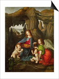 Madonna of the Rocks Print by  Leonardo da Vinci