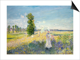 The Walk, circa 1872-75 Art by Claude Monet