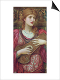 The Music Faintly Falling, Dies Away / Thy Dear Eyes Dream That Love Will Live for Aye, 1893 Print by John Melhuish Strudwick