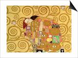 Fulfillment, Stoclet Frieze, c.1909 (detail) Posters by Gustav Klimt