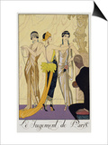 The Judgement of Paris, 1920-30 Prints by Georges Barbier