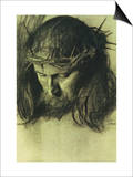 Head of Christ, circa 1890 Prints by Franz von Stuck