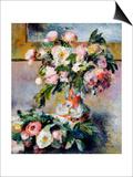 Peonies, 1878 Poster by Pierre-Auguste Renoir