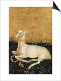 White Hart, from the Wilton Diptych c.1395-99 Prints by  Master of the Wilton Diptych