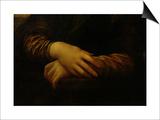 Mona Lisa, Detail of Her Hands, circa 1503-06 Kunstdrucke von  Leonardo da Vinci