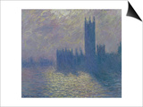 The Houses of Parliament, Stormy Sky, 1904 Prints by Claude Monet