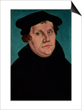 Portrait of Martin Luther, 1529 Posters af Lucas Cranach the Elder