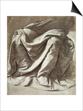 Study of Drapery Art by  Leonardo da Vinci