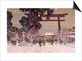 View of a Shinto Shrine, c.1889 Prints by Sir Alfred East