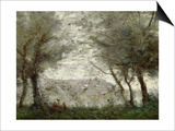 The Pond at Ville-D'Avray Through the Trees, 1871 Posters by Jean-Baptiste-Camille Corot