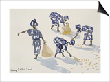 Clearing Leaves, Senegal, 2003 SwitchArt&#8482 Print by Lucy Willis