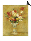 Tulipes, 1909 Print by Pierre-Auguste Renoir
