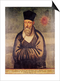 Portrait of Matteo Ricci (1552-1610) Italian Missionary, Founder of the Jesuit Mission in China Print