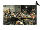 The Fish Market Prints by Frans Snyders Or Snijders