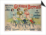 Poster Advertising Gendron Bicycles, Published by Chambrelent, Paris Posters