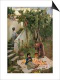 The Orange Gatherers Prints by John William Waterhouse