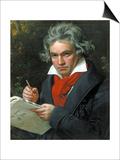 Ludwig Van Beethoven Composing His 'Missa Solemnis', 1820 Posters by Joseph Karl Stieler