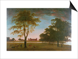 Osterley House and Park at Evening Posters by William Hannan