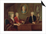 The Mozart Family, 1780-81 Prints by Johann Nepomuk della Croce