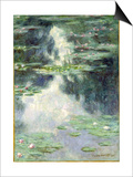 Pond with Water Lilies, 1907 Print by Claude Monet