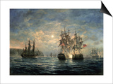 "Engagement Between the ""Bonhomme Richard"" and the ""Serapis"" Off Flamborough Head, 1779 Prints by Richard Willis"