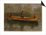Fishing from a Canoe Posters by Albert Bierstadt