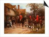 The Meet, Ye Olde Wayside Inn Posters by Heywood Hardy