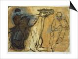 Two Studies of Riders Art by Edgar Degas