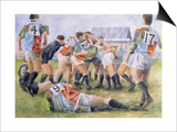 Rugby Match: Harlequins v Wasps, 1992 Prints by Gareth Lloyd Ball
