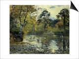 The Pond at Montfoucault; L'Etang De Montfoucault, 1874 Posters by Camille Pissarro