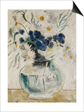 Daisies and Cornflowers in a Glass Bowl, 1927 Prints by Christopher Wood