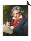 Ludwig Van Beethoven (1770-1827) Composing His 'Missa Solemnis' Print by Joseph Karl Stieler