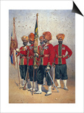Soldiers of the 15th Ludhiana Sikhs, Illustration for 'Armies of India' by Major G.F. MacMunn,… Posters by Alfred Crowdy Lovett