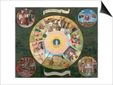 Tabletop of the Seven Deadly Sins and the Four Last Things Prints by Hieronymus Bosch