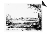 View of a Canal, 1650 (Etching) Prints by  Rembrandt van Rijn
