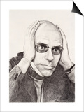 Michel Foucault, 1994 Prints by Dinah Roe Kendall