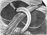 Mexican Revolution: Guitar, Sickle and Ammunition Belt, Mexico City, 1927 Poster by Tina Modotti