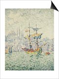 The Port of Constantinople; Le Port de Constantinople, 1907 Print by Paul Signac