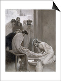 Jesus Washing the Feet of His Disciples, 1898 Posters by Albert Edelfelt