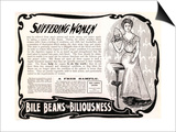 Advertisement for 'Bile Beans', 1900s Art by  English School